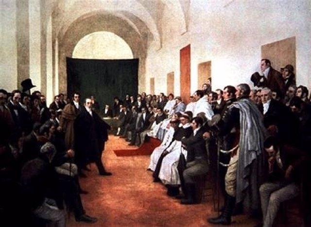 Reunión antes de la Revolución de Chuquisaca