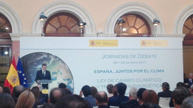 Rajoy inaugura Jornadas de debate 'España, juntos por el clima'