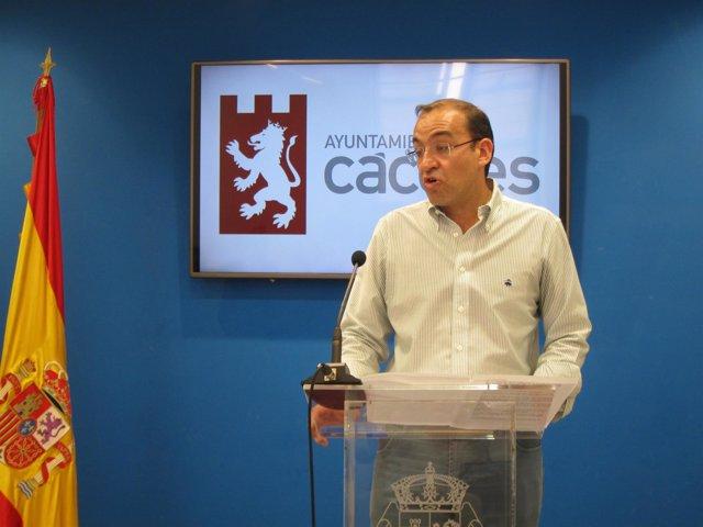 Rafael Mateos, portavoz del Gobierno de Cáceres