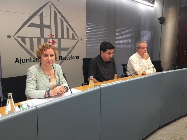 Sara Berbel, Gerardo Pisarello y Jordi Via