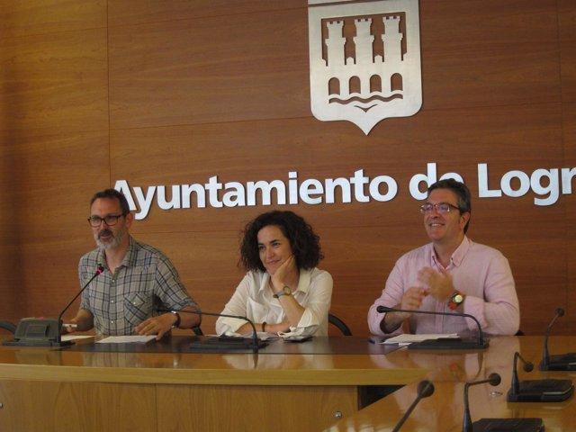Arraiz, San Martín y Antoñanzas, en la rueda de prensa
