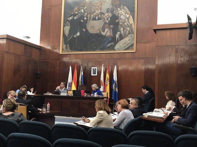 Pleno del Ayuntamiento de Santander, mmayo de 2017