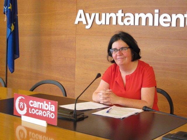 La concejal de Cambia Logroño, Paz Manso de Zúñiga
