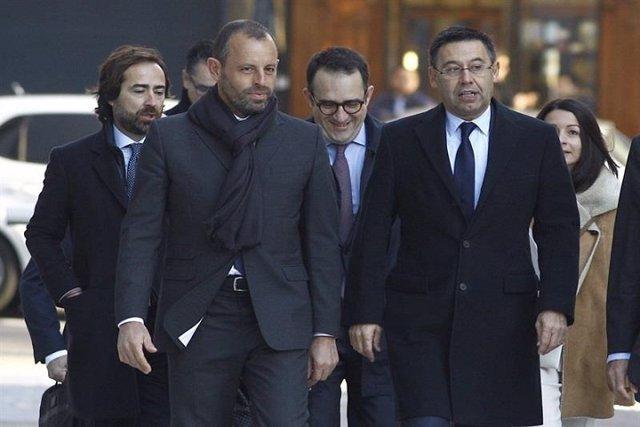 Detenido el expresidente del Barça, Sandro Rosell