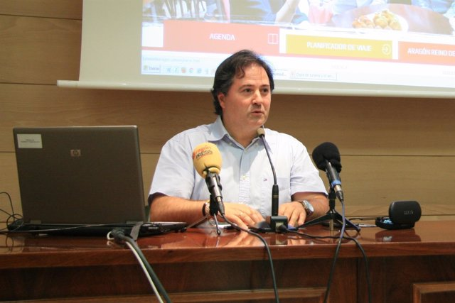 El director general de Turismo de Aragón, Jorge Marqueta.