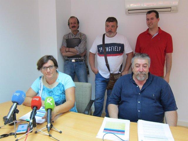 Representantes de la Mesa del Protocolo de Desahucios de la Junta de Extremadur
