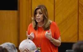 """Susana Díaz: El rechazo a las enmiendas del PSOE a los PGE es un nuevo """"atropello"""" a Andalucía"""