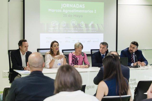 La diputada María López Asensio durante su intervención en las jornadas.