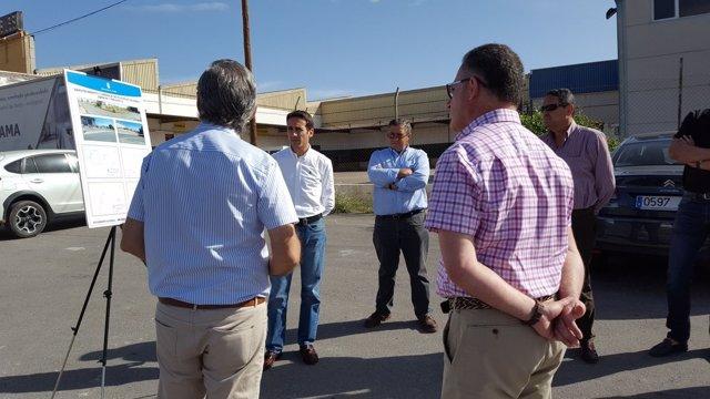 El diputado Óscar Liria ha conocido los proyectos de PPIM de Alhama.