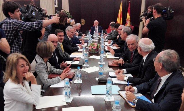El fiscal general del Estado José Manuel Maza en la Junta de Fiscales Superiores