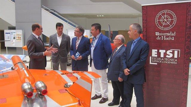 Presentación de los proyectos del Escuela de Ingenieros de Huelva.