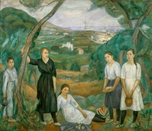 Pintura 'Cala Forn' de Joaquim Sunyer