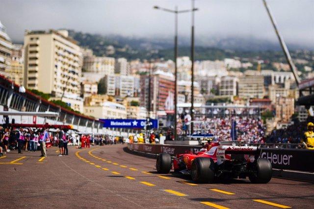 Vettel (Ferrari) en Mónaco