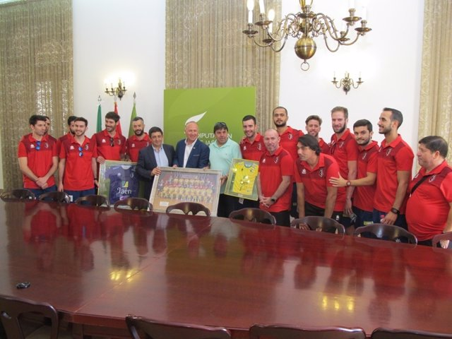 Recepción al Jaén Paraíso Interior Fútbol Sala.