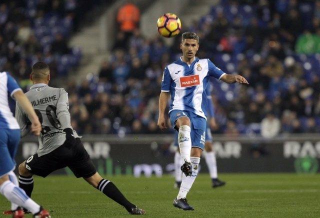 Salva Sevilla, jugador del RCD Espanyol