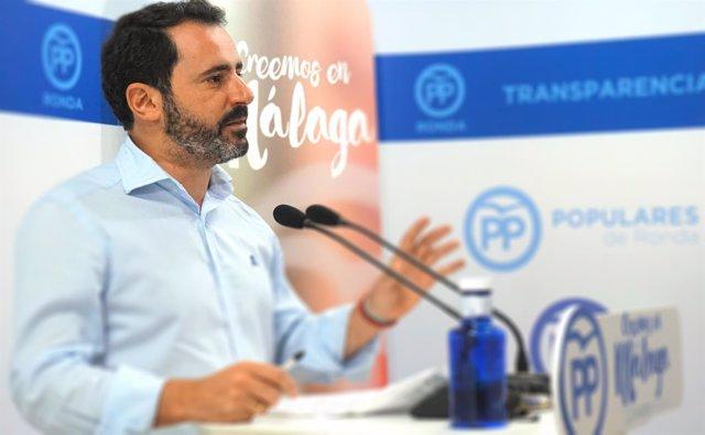 El portavoz del PP de Málaga, José Ramón Carmona