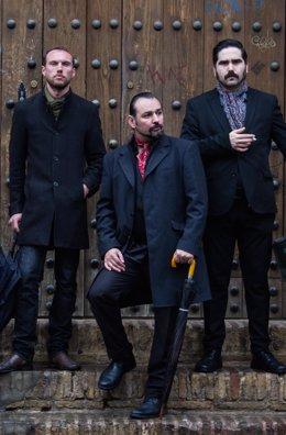 La banda 'Van Moustache Trío'.