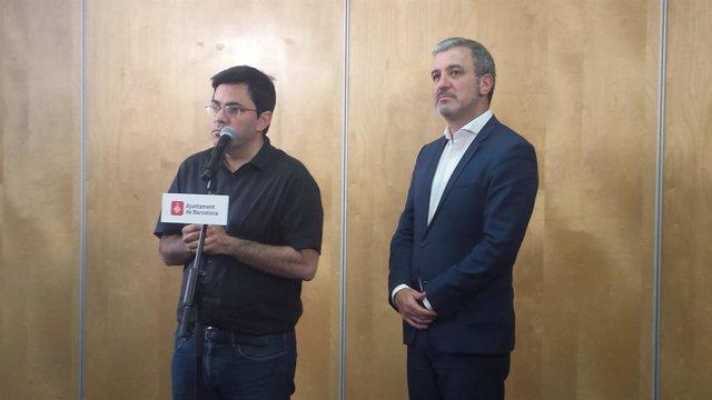 Los tenientes de alcalde de Barcelona Gerardo Pisarello y Jaume Collboni