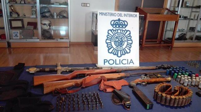 Policía Nacional armas