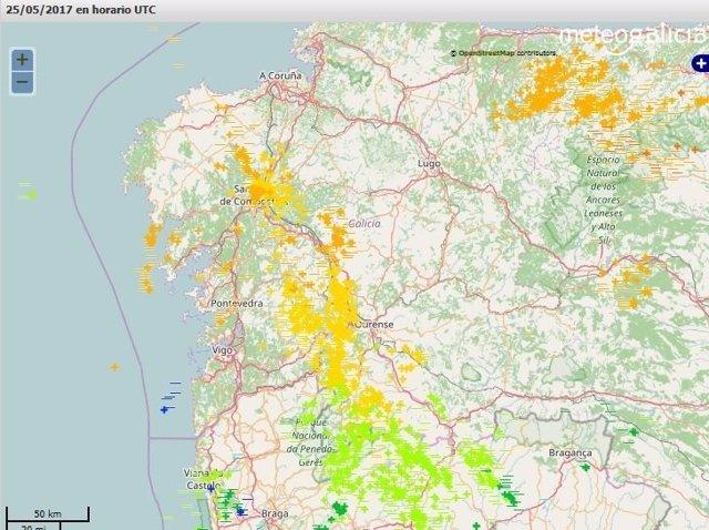 Mapa de la actividad eléctrica