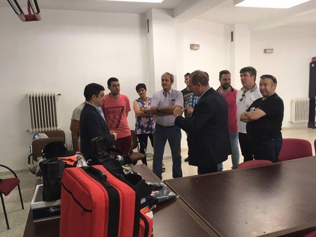 Reyes visita el municipio de Santa Elena