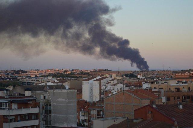 Incendio en Lleida