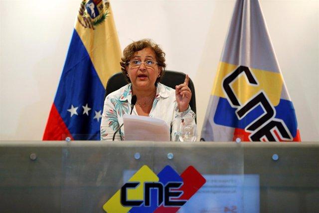 Presidenta del CNE, Tibisay Lucena