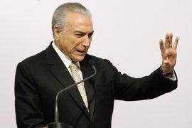 """Temer asegura que """"Brasil no va a parar"""" a pesar de las protestas en su contra"""