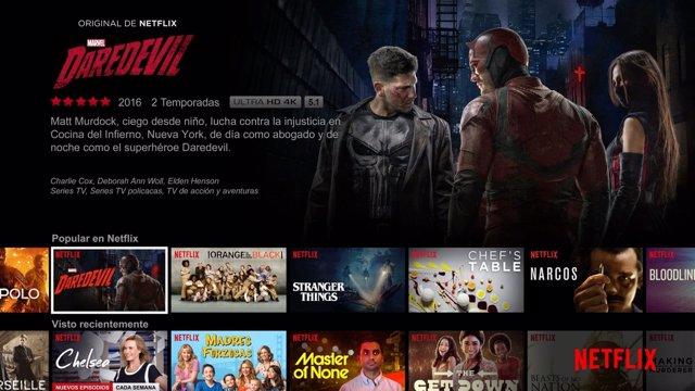 Pantalla Netflix