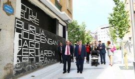 Concluye la peatonalización de la calle Miribilla en Bilbao