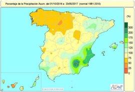 La falta de lluvias acumulada desde octubre se mantiene en el 12% por debajo de lo normal y se agudiza en el noroeste