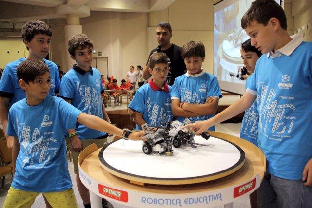 Alumnos de robótica participarán en la final de la II Optimus League