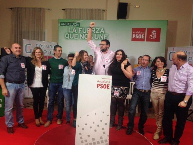 Acto del PSOE de Sevilla en Guillena