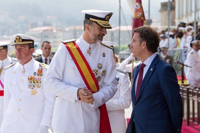 El Rey Felipe y Feijóo