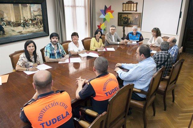 Convenio firmardo con Protección Civil de Tudela, Cintruénigo y Milargo