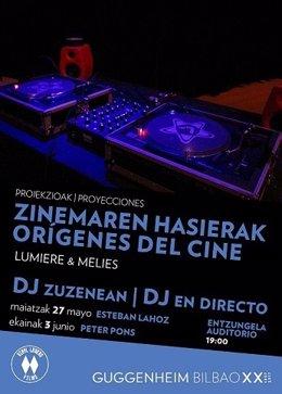 Cartel de las próximas actividades del Guggenheim Bilbao
