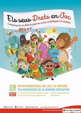 Cartel de la jornada de Creu Roja Joventut sobre el juego