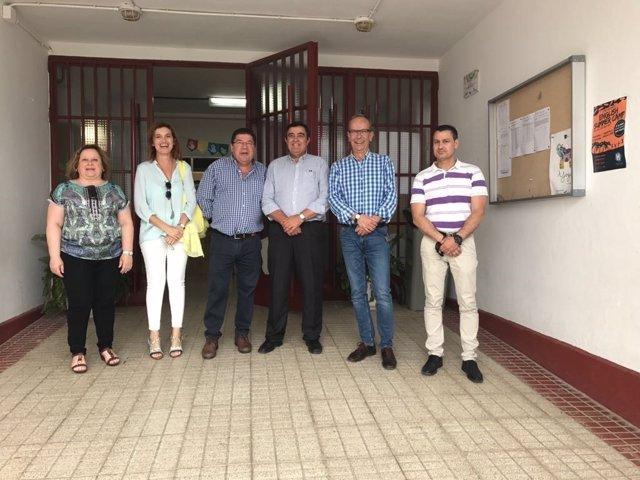 Visita al colegio Triana de Trigueros.