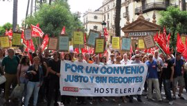 """CCOO lamenta la actitud """"cicatera y fascista"""" del sector hostelero de Sevilla tras la rotura de negociaciones"""