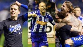 Ibai Gómez, Toquero y Alexis, los jugadores del Alavés con experiencia en finales coperas