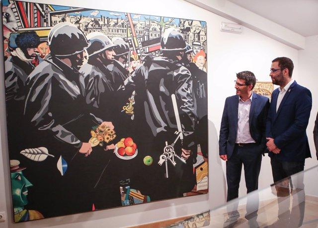 Jorge Rodríguez y Mario Sánchez en la presentación de 'Memoria de la modernidad'