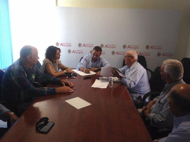 Reunión con la Plataforma de Afectados por las Inundaciones de Andújar.