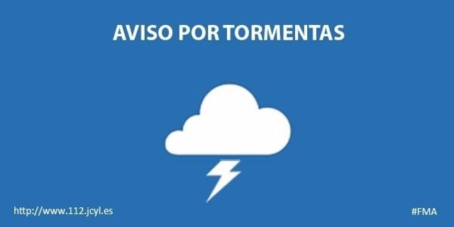 Gráfico del aviso por tormentas