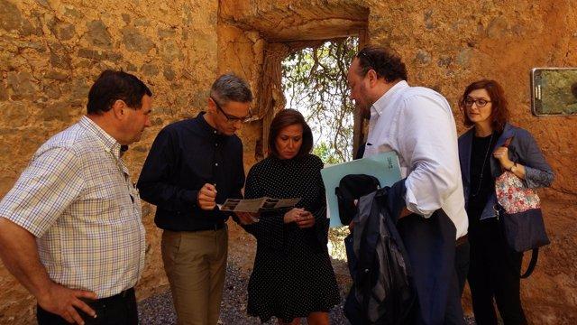 Mayte Pérez ha visitado hoy el Monasterio de San Victorián