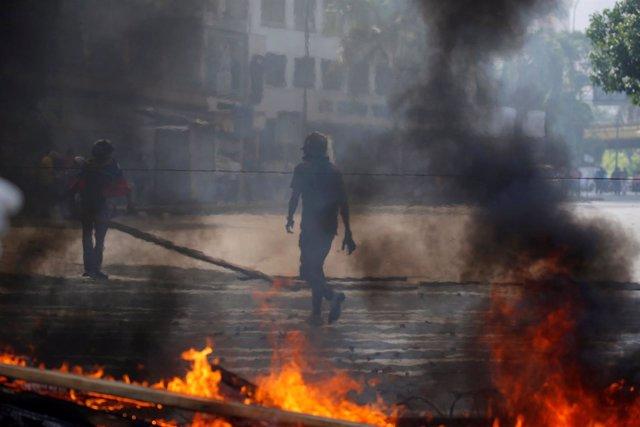 Protestas contra el Gobierno en Caracas