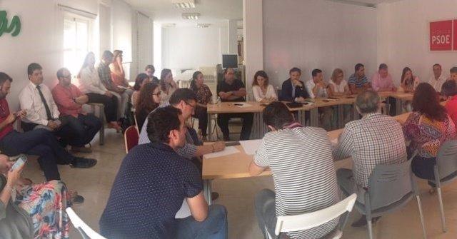 Reunión de la Comisión Ejecutiva del PSOE de Huelva.