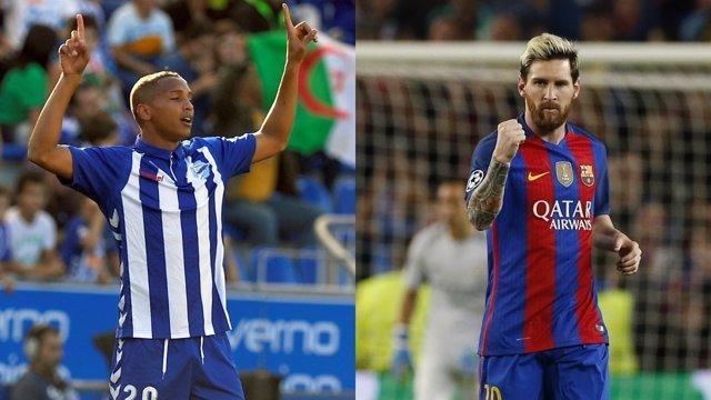 Deyverson y Messi, previa de final de Copa del Rey