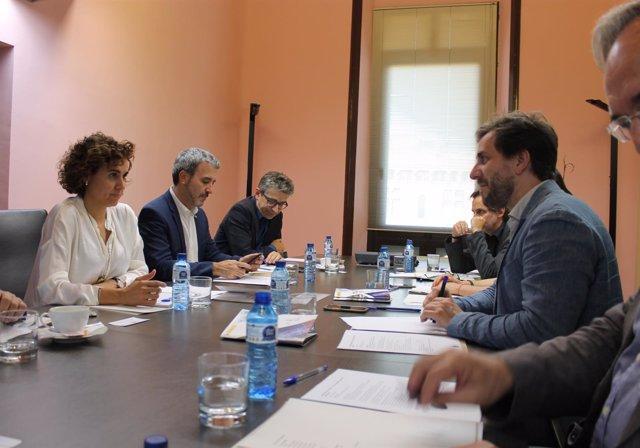 Reunión de la comisión de seguimiento de la EMA, con D.Montserrat, T.Comín