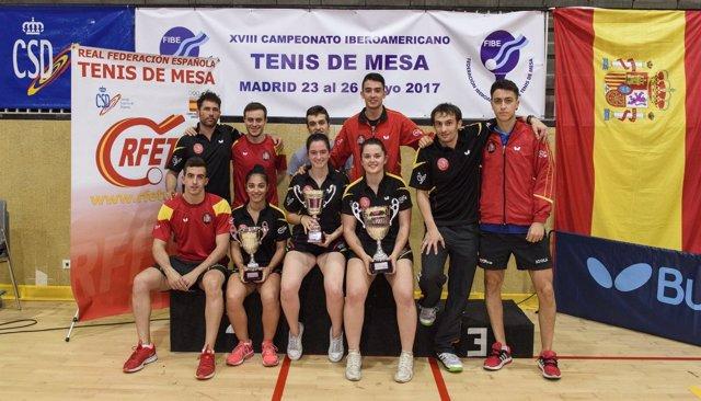 La Selección Española De Tenis De Mesa