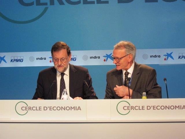 Mariano Rajoy y Anton Costas